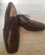 Johnston & Murphy Brown Leather Runoff Lace-up Oxfords 14M