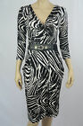 Crossroads Ladies 3/4 Sleeve Cowl Neck Dress sizes XSmall Small Swirl Print