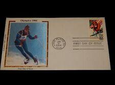 Vintage Cover,1984 FDC,LAKE PLACID,NY,COLORANO SILK,Winter Olympics,Downhill Ski