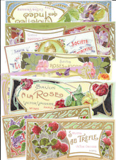 Decoupage Art Paper For Projects Scrapbook 80 Pieces Perfume Label s Art Nouveau