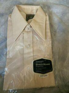 Vintage Towncraft Penn-Prest JC Penney Dress Shirt 15 1/2  new package tan SS