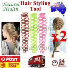 2 x Magic French Hair Braider Ponytail Bun Braided Holder Twist Braid Tool