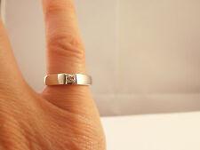 0.15ct Diamond Platinum Ring       Size L 1/2      8.4gms    Second Hand