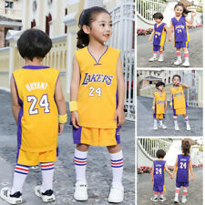 NBA LA Lakers #24 Kobe Bryant Niños Chico Men Baloncesto Camisetas Jerseys Sets