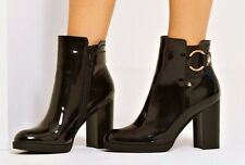 4thandreckless LUNA Black Patent Womens Ankle Boots rrp £32 UK6 EU39 LG01 70