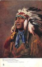 INDIAN CHIEF HIAWATHA LONGFELLOW TUCK POSTCARD (c. 1910)