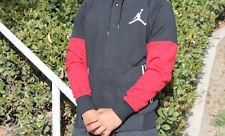 JORDAN VARSITY JACKET HOODIE SZ XL BLACK GYM RED WHITE HOODY 689020 011