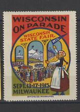 US Poster Stamp Wisconsin State Fair 1915