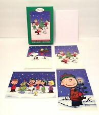 Classic Peanuts Christmas Cards Box of 20 Sunrise Greetings 4 Designs New Htf