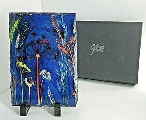 "Gillian Arnold Slate Art Original Art "" Red Flamenco "" Botanical Britian Boxed"