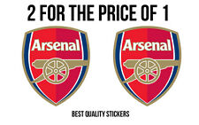 "2 x ARSENAL ""THE GUNNERS"" Sticker one of the best team in the world 110mm high"