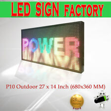"""LED SIGN 27""""x14"""" Outdoor Programmable RGB color Display Open Message Sign Board"""