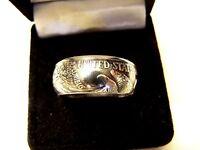 "Walking Liberty Coin Ring ""Tails"" .90 Silver  Handmade Band  5 1/2--14  No Stone"