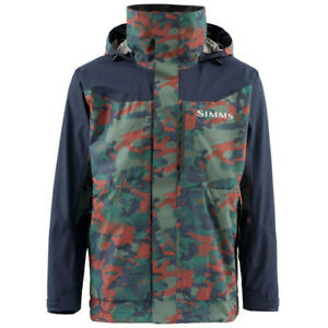 Simms Challenger Jacket CLOSEOUT Pricing Color Hex Camo Rusty Red M-XXL