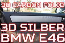 BMW 3er E46 ORIGINAL 3D CARBON FOLIEN ZIERLEISTEN SET SILBER 3D CARBON