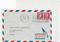 france 1957 fleurs & fruits air mail stamps cover ref 20838