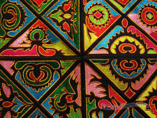 Antique miao hmong machinemade embroidery abstract mystery design