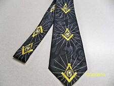 Mason, Masonic, Freemasonry, Fraternal, square + compass quality mens necktie 29