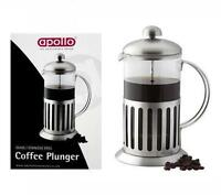 Apollo French Press Pot Stainless Steel Glass Jug Coffee Maker Espresso Plunger
