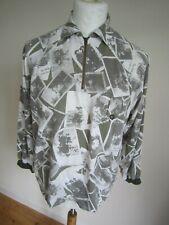 VINTAGE 90s ARMANI JEANS 1/4 ZIP JUMPER/JACKET  women M  men S  wavey patterned
