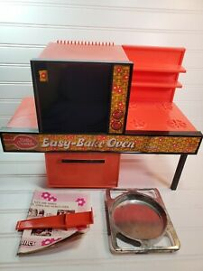 Vintage Easy Bake Oven with Accessories Original Box Manual 1976 Kenner WORKS