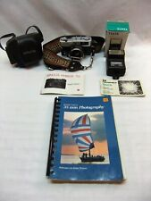 Minolta Hi-Matic 7sII 35mm Camera, Case, Strap, Hanimex Electronic Flash; Bundle