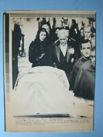 '82 Press Wire Photo Prince Rainier, Princess Caroline, Prince Albert At Funeral