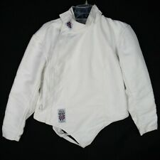 Leon Paul White Fencing Jacket Size 42 Left-Handed Side Zip 800N Atlanta 326