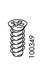 12x IKEA EURO COUNTERSUNK SCREW FX STEEL FLAT HEAD 13 mm  PART # 100349