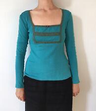 Turquoise Blutsgeschwister longsleeved t-shirt