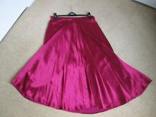 BNWT Burgundy Silky Ankle Length Flared Skirt From Marks and Spencer Size 16 L