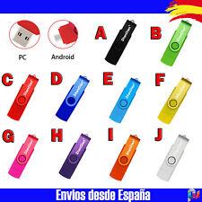 Memoria USB OTG DOBLE Pendrive Externo Giratorio Android 32GB Color A Elegir