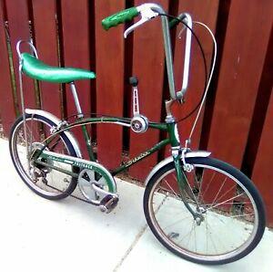 "1972 SCHWINN FASTBACK STINGRAY 5 SPEED MUSCLE BIKE BARN FIND CAMPUS GREEN ""OG"""