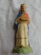 n°67] Santon ancien Devineau (Roi Mage) en plâtre (crèche)