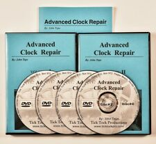 Large Advanced Clock Repair Study Course 4 Video DVDs Book