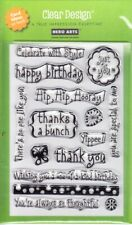HAPPINESS MESSAGES - Hero Arts Poly Clear Stamp Set