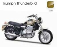 MAISTO 39346 TRIUMPH THUNDERBIRD diecast model motorbike  gold 1:18th scale