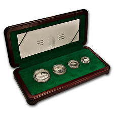 1998 Canada 4-Coin Proof Platinum Gray Wolf Set (w/Box & COA)