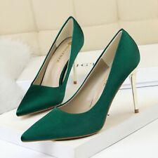 Women Stiletto High Heel Court Shoes Pointed Toe Slip On Wedding Dress Pumps