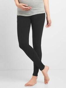 "Gap Maternity Pure Body ""Love"" LOW Rise Modal Leggings Size S - Black- NWT"