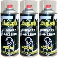 Schwarz glänzend WOW 3 Spraydosen Autolack 400ml Ludwiglacke Anzeige