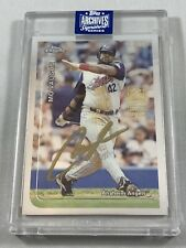 2020 Topps Archives Signature Series MO VAUGHN Autograph 8/19 Auto Angels Chrome