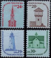 RJames: Americana Series Buildings 1603  1604  1605  1606, MNH, F/VF
