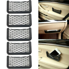 5Pcs Universal Car Seat Side Back Storage Net Bag Phone Holder Pocket Organizer
