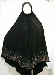 Muslim Women Burka one Piece Salah Overhead Jilbab BLACK Long Hijab Abaya Khimar