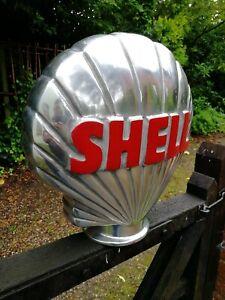 Shell Petrol Pump Globe Aluminium Shell full Globe Oil Petrol Vintage Garage oil