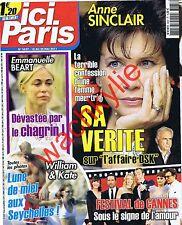 Ici Paris 3437 – 18/05/2011 Anne Sinclair Les Prêtres Bardet Béart Cannes