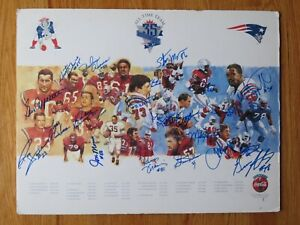 21 NEW ENGLAND PATRIOTS signed 35th All-Time Poster CAPPELLETTI NICK BUONICONTI