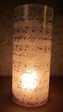 Teelicht Umhüllung laminiert NOTENPAPIER alt handgeschrieben Tischlicht Leuchte