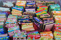 Beautiful Lot of 50 fat quarters + 3 panels No Duplicates Cotton Quilt Fabric